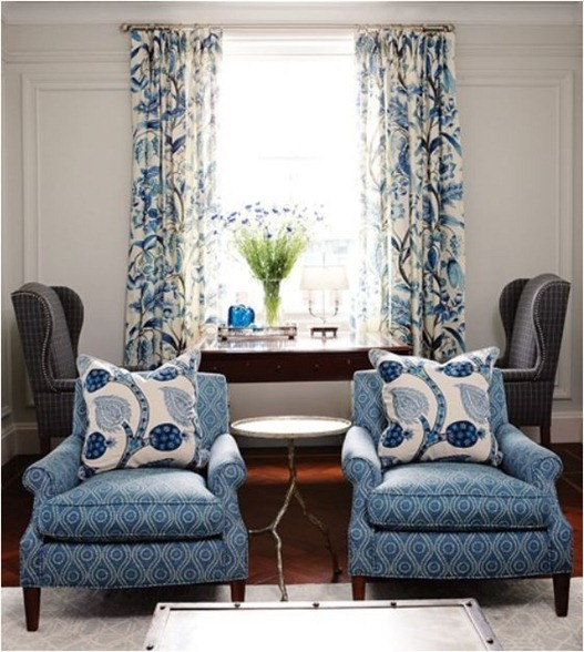 blue and white patterns house and home