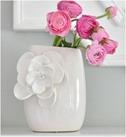 clay petal vase