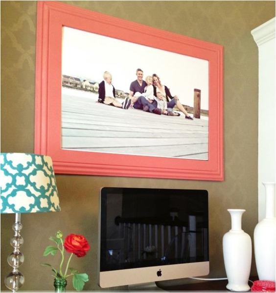 custom wall frame entirelyeventfulday