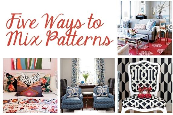 five ways to mix patterns