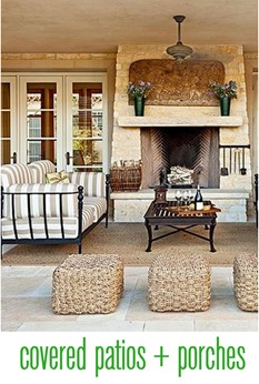 covered patios and porches