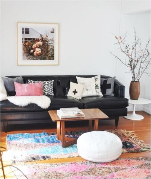 Super Decorating Around A Leather Sofa Centsational Style Alphanode Cool Chair Designs And Ideas Alphanodeonline