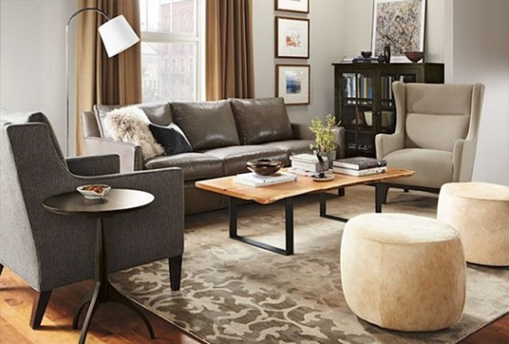 Accent Chairs With Leather Furniture.Decorating Around A Leather Sofa Centsational Style