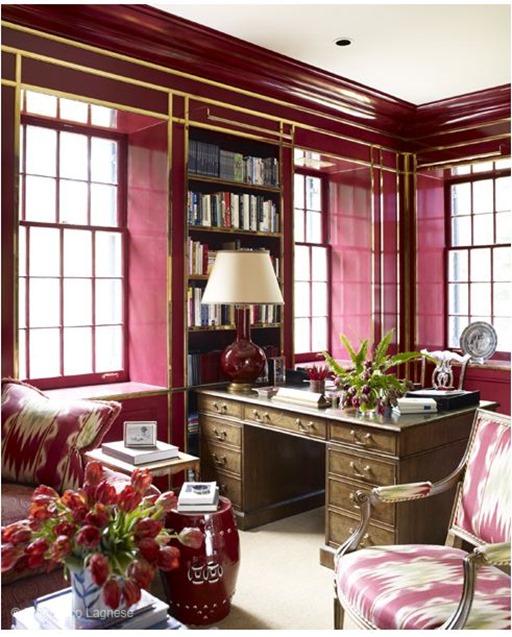 miles redd magenta and brass office