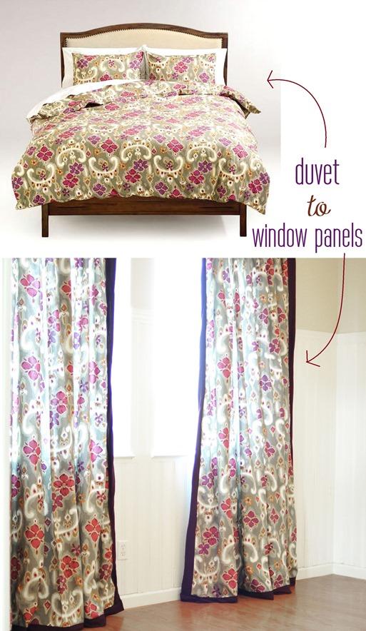 duvet to window panels