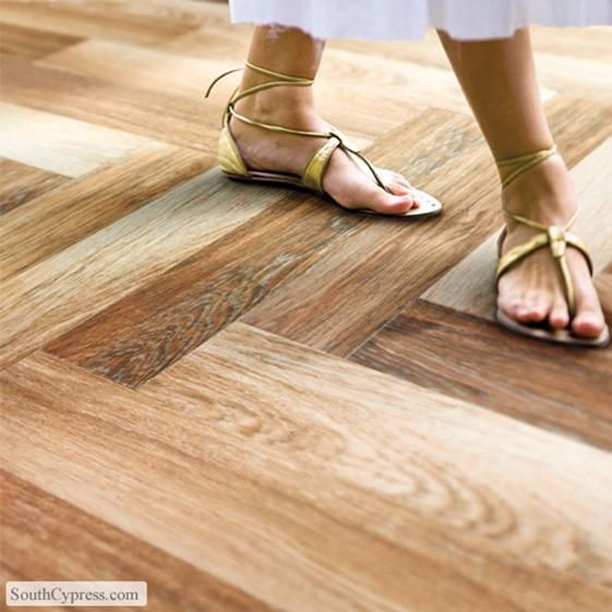 hardwood lookalike tile floor