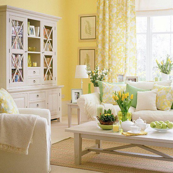 yellow painted walls