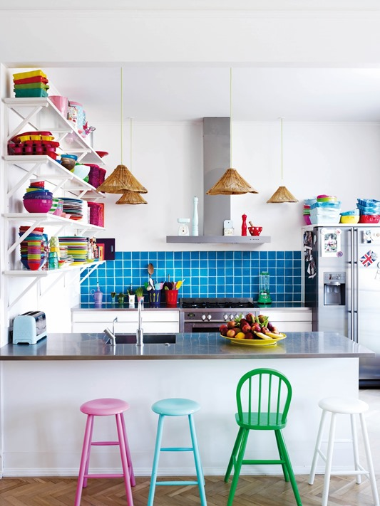 colorful kitchen accents katie did