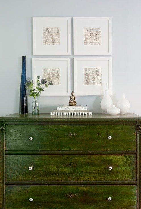 green dresser design sponge