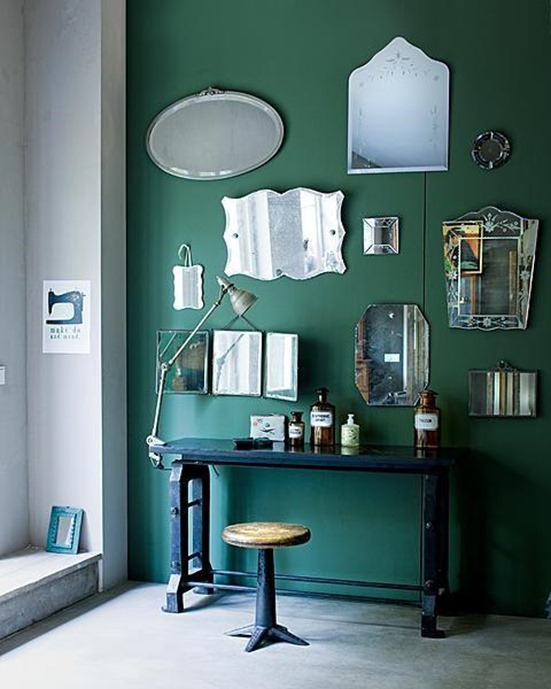 jade green walls