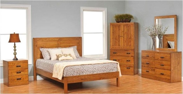 Mixing wood tones centsational style for Matching bed and dresser