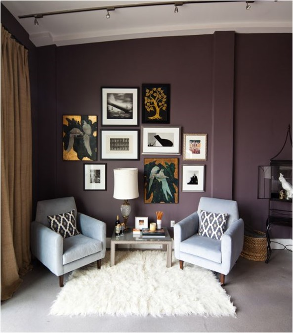 purple walls living room decorating with purple centsational style 15977