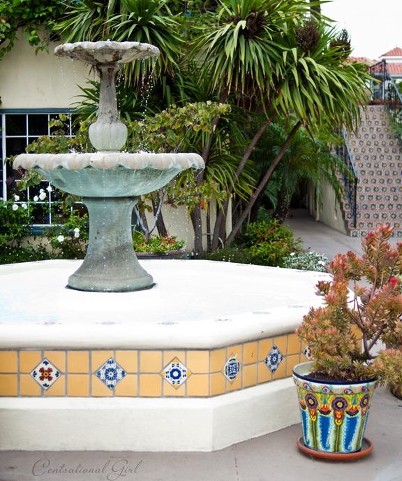 tiled fountain