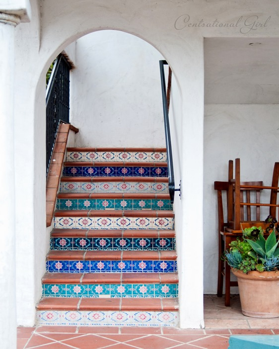 tiled side staircase cg