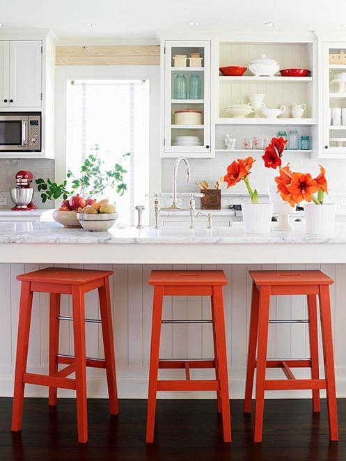 bright orange stools bhg
