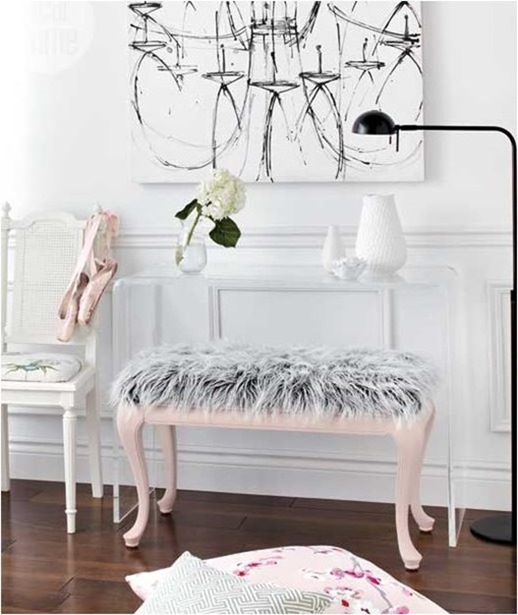 faux fur bench styleathome