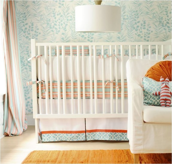 orange and blue nursery