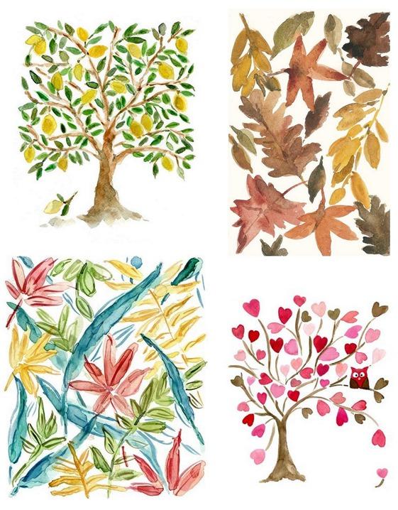 Ideal watercolor botanicals joy of color