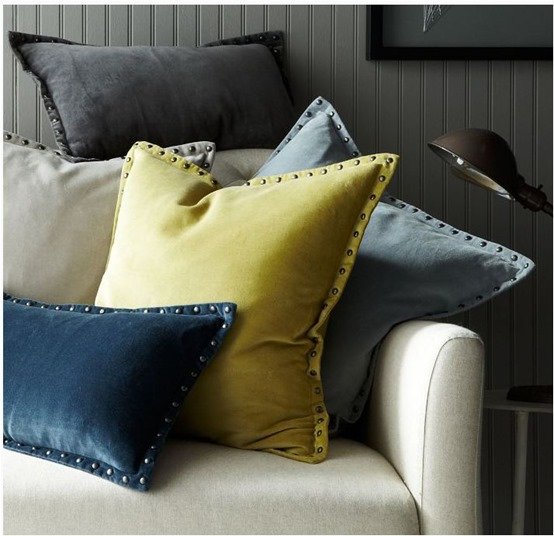 west elm studded pillows