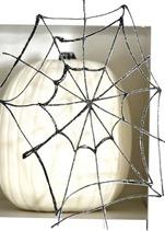 glitter spider webs