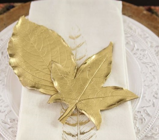 gold clay leaves unskinnybobby