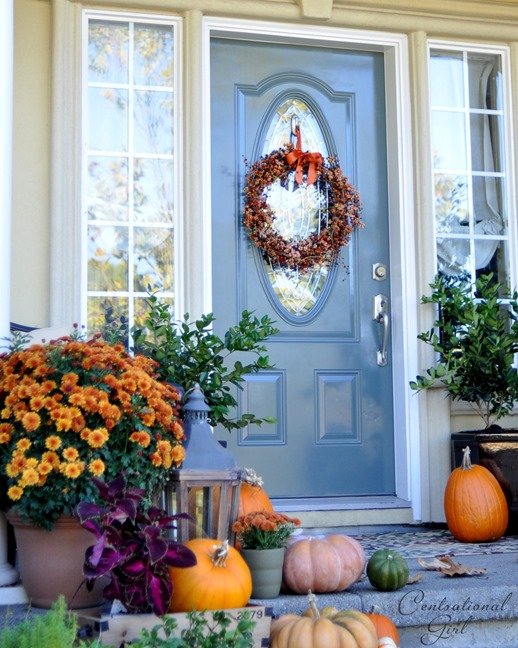 knoxville gray fall front door