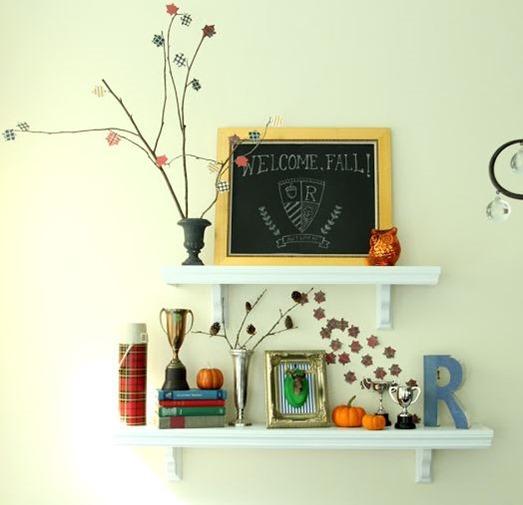 simple fall shelves