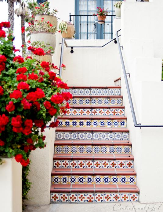 tiled staircase in santa barbara