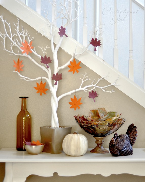 Perfect thankful tree in entry