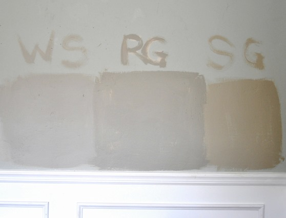 gray paints on wall