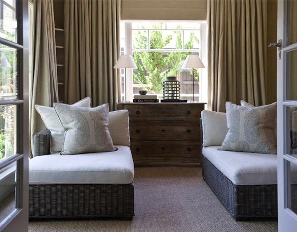 pale paisley motif pillows