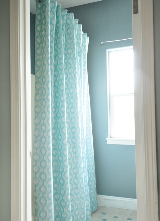 Marvelous lined shower curtain