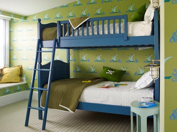 Luxury blue and green kids room katie ridder