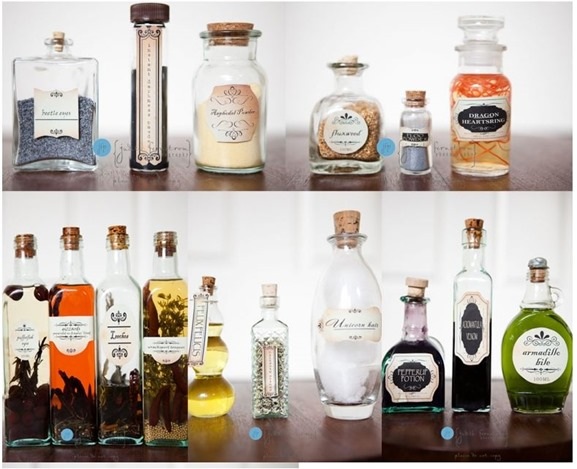 harry potter potions labels