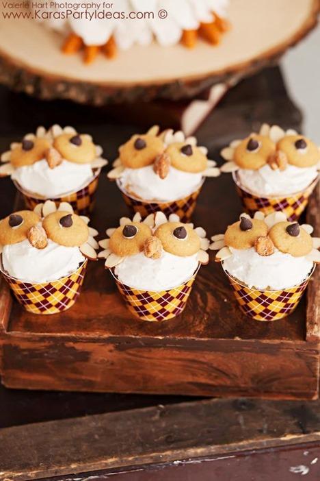 hedwig owl cupcakes