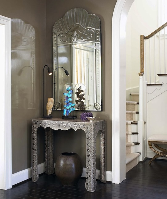python console and venitian mirror