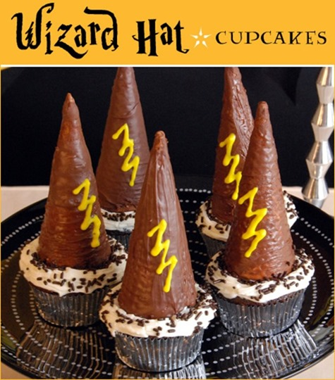 wizard hat cupcakes