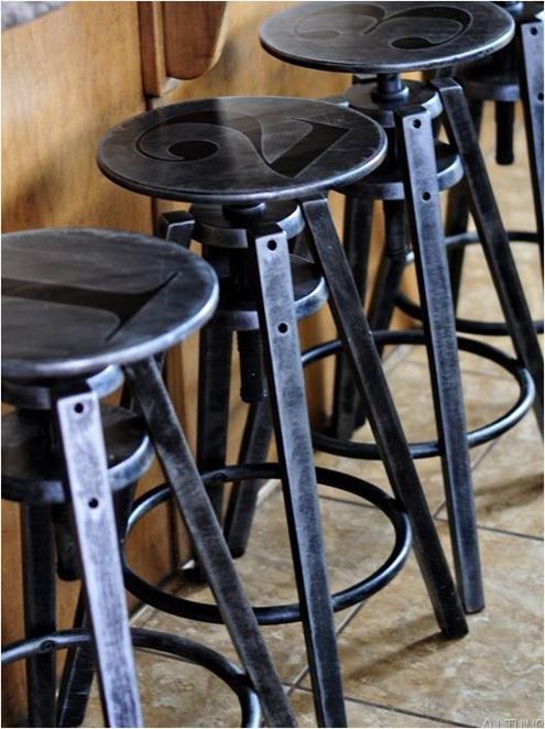 metal lookalike stools