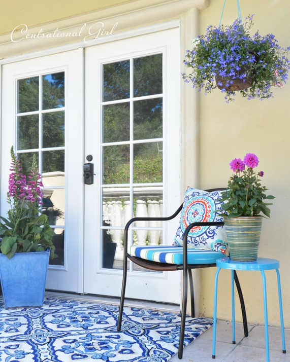 french doors and chair