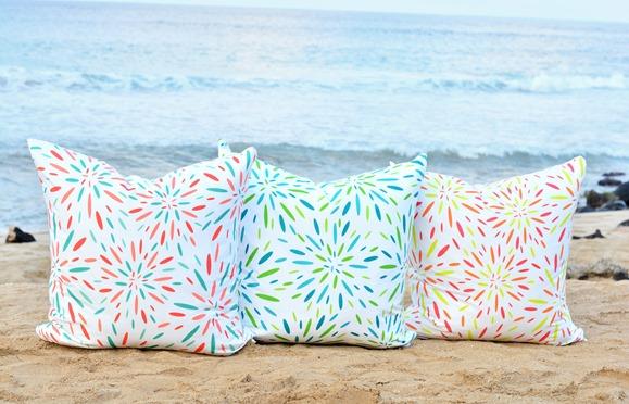 summer starburst print on beach