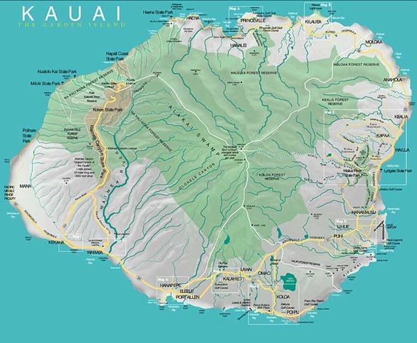 kauai map