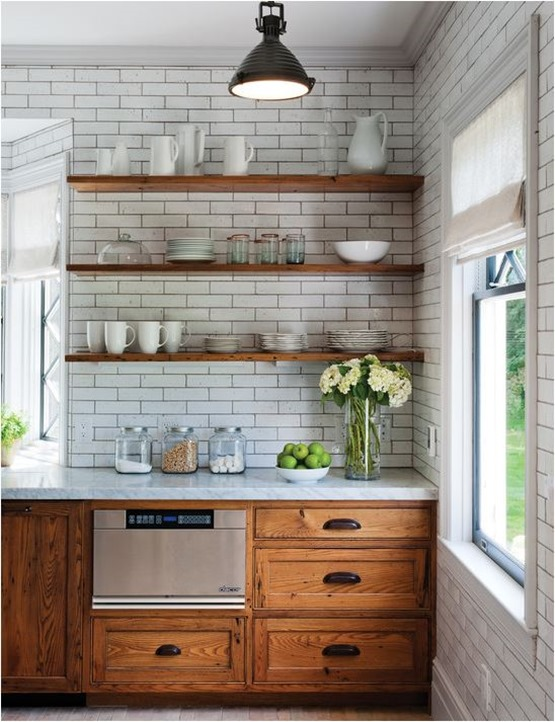 rustic chestnut cabinets