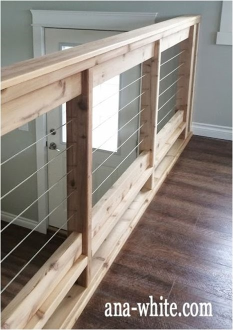 wood and cable railing anawhite