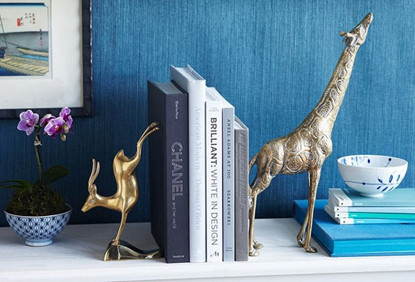 brass animal bookends