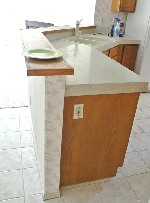 Lowering A Tall Kitchen Pony Wall Bar