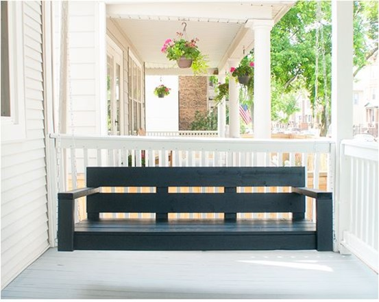 porch swing yellowbrickhome