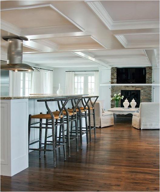 raised bar in kitchen