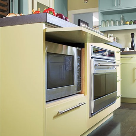Kitchen Cabinets For Microwave Ovens disappearing microwaves | centsational style