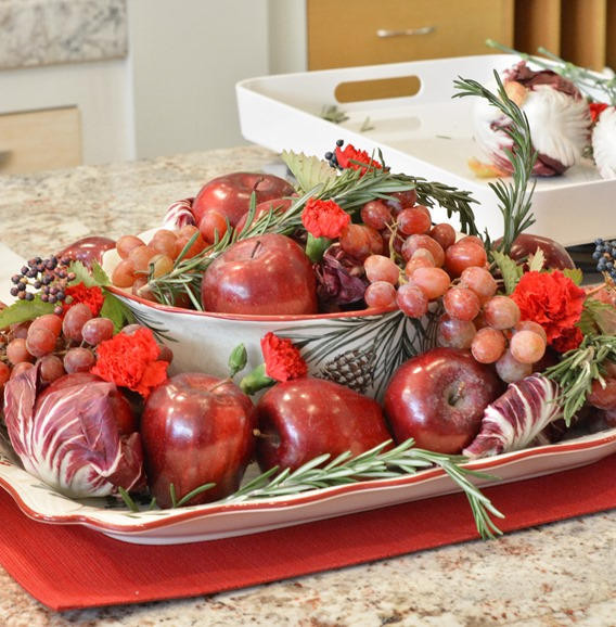 red apple centerpiece