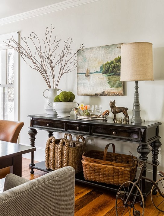 Black Console Table Styling